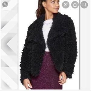 Wild fable- black fuzzy jacket-NWT